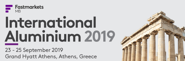 International Aluminium 2019 - Αθήνα, 23-15/9/2019